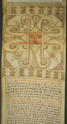 Healing Scroll, Ethiopia, Amharic culture, 19th century.