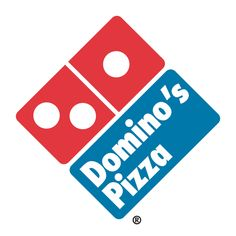There's a domino within the logo and their name is domino's pizza. The square shape also represents a pizza box.