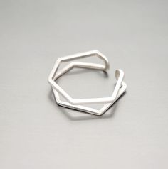 Pentagon Sterling Silver Spacer Ring a perfect gift for a friend or yourself. Visit Oneiro Jewelry and shop today!