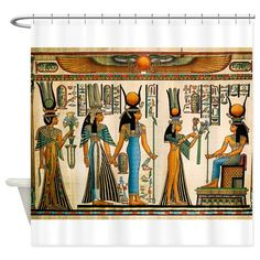 Ancient Egyptian Wall Tapestry Shower Curtain on CafePress.com