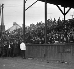 Eclipse Park opening game,N.W. Corner of 7th and Kentucky Streets Louisville, Kentucky, 1913. Grandstand burned to the ground in 1922 :: R. G. Potter Collection