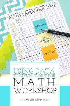 Learn how to use pre assessment data and student observations to create the most effective and efficient small groups for M.A.T.H. Workshop in your classroom. These strategies make differentiating math small groups quick and easy.