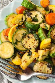 Break out the veggies and whip up some lovely Herb Roasted Zucchini and Carrots! The cooking time adds to its flavor. Break out the veggies and whip up some lovely Herb Roasted Zucchini and Carrots! The cooking time adds to its flavor. Clean Eating Recipes, Healthy Dinner Recipes, Vegetarian Recipes, Healthy Eating, Cooking Recipes, Flour Recipes, Healthy Food, Roast Zucchini And Carrots, Carrot Zucchini Recipe