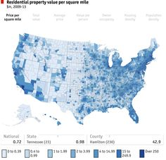 Residential Property Value per Square Mile