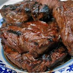Steak Tip Marinade. This recipe sounds really tasty and easy. Make the marinade, put the steak tips in a crock pot pour in the marinade and cooked for 5 hours. The tips will fall apart and the marinade makes a great flavor. Could serve over egg noodles.