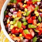 Mexican Black Bean and Corn Salad #recipe crunchycreamysweet.com