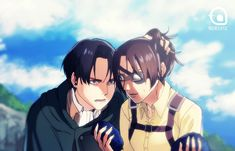 ''Hanji, Leave that shit. Levi at some point on the beach XD I'm still excited ♥ Attack On Titan Funny, Attack On Titan Ships, Attack On Titan Fanart, Funny Yugioh Cards, Hanji And Levi, Levihan, Stray Dogs Anime, Anime People, Losing A Dog