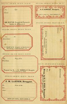 EPHEMERA - OLD PAPER - pagine e pagine di etichette originali