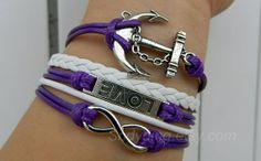 Ancient silver anchor infinite hope love bracelet by Colorbody, $10.29