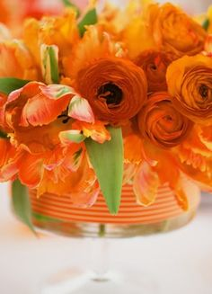 Modern Red and Orange (decorations flowers orange color) - Lover.ly