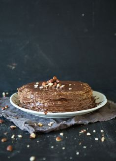 Vegan Chocolate Crepe Cake