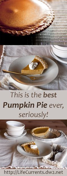 Simply put, this is the best Pumpkin Pie ever, seriously! It's a little more work, but man, is it worth it! Creamy, thick, rich, yummy… If you only make one thing for the Thanksgiving table, make this Pumpkin Pie!