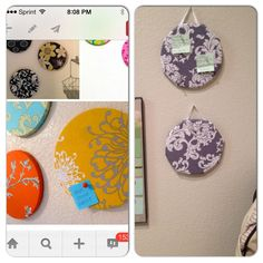 Cork board from hot pad. Original pin on left. Mine on the right!