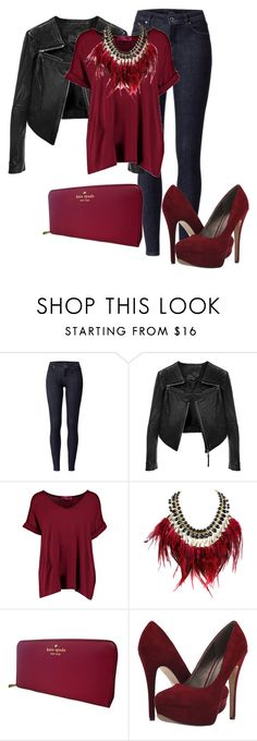 """""""#128"""" by luvv121 ❤ liked on Polyvore featuring Linea Pelle, Boohoo, WithChic, Kate Spade and Michael Antonio"""