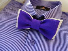 Галстук бабочка Valeri - однотонный,айвори,фиолетовый,топленое молоко
