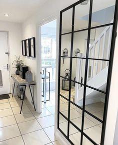 Brooklyn - Black Industrial Full Length Window Mirror x x Hallway Mirror, Framed Mirrors, Mirrors With Black Frame, Full Length Mirror Hallway, Black Framed Mirror, Window Mirror Decor, Mirror Walls, Window Frames, Industrial Mirrors