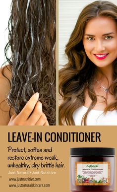 The chemicals in many conditioners sit on your hair and scalp, eventually causing various issues.  On the other hand, this creamy leave-in conditioner replaces lost moisture, nutrients and protein to increase styling potential and manageability.  With the first use, you will see and feel a noticeable improvement.