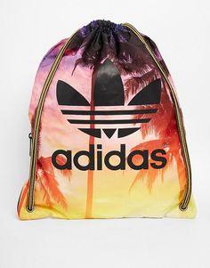 Adidas   adidas Originals Gymsack in Palm Print at ASOS