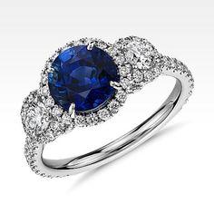 Alianzas y anillos de compromiso de zafiro | Blue Nile
