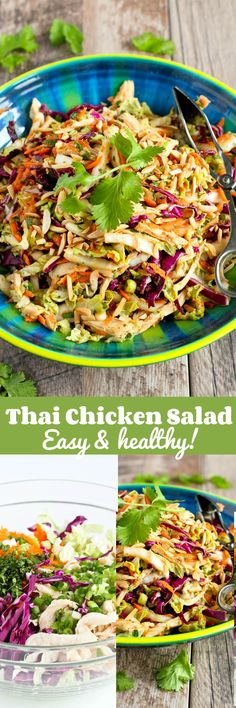 Thai Chicken Salad Recipe…It's virtually impossible to stop eating this delicious, healthy salad! 236 calories and 5 Weight Watcher SmartPoints