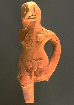 Standing male figurine from Harappa, present day Pakistan. 2500 bce