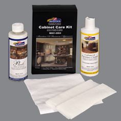 "CABINET CARE KIT  The Cabinet Care Kit is ideal for virtually anyone who wants to ""maintain the showroom appearance"" of their wooden surfaces.The Cabinet Care Kit contains everything you need to care for your cabinetry and furniture investment. Use to clean light to moderate dirt. Will not affect the finish. (Click the link to access training videos and step-by-step instructions for this product!)"