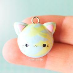 Hi everyone! This is a kitty earth charm I made for the 'Cats' theme on @crafters.wonderland! If you want to make your own I have a tutorial on a regular kawaii earth on my YouTube channel, creativesculpey, then just attach some ears and make a kitty face! Hope you like it! ✌ #polymerclay #polymer #clay #cute #kawaii #cat #kitty #earth #sculpey #fimo #craft #handmade