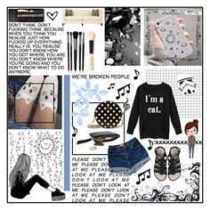 """""""meow"""" by holly-elizabeth ❤ liked on Polyvore featuring Elite, Cufflinks, Inc., Kate Spade, Melissa, Illamasqua and Bobbi Brown Cosmetics"""