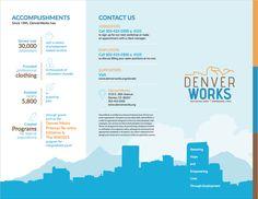 Denver Works brochure design by Watermark! #watermark #watermarkadvertising #brochure #brochuredesign #graphicdesign #design #marketingdesign #marketingmaterials #marketingcollateral #marketing #advertising #seminary