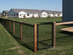 Image result for black chain link fence