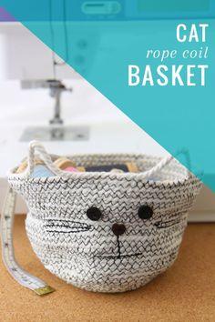 DIY: cat rope coil basket