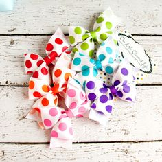 Set of 6 Hair Bows Hair Bow Set Hairbow by OurLittleCharmedLife