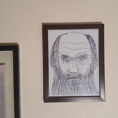 Charles Darwin Sketch Print 8 5x11 Inches Black And White