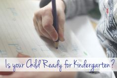 A quiz to find out if your child is ready for kindergarten