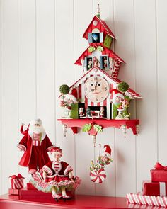 Santa & Mrs. Santa Dolls by Katherine\'s Collection at Horchow.