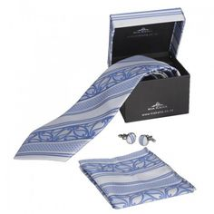 Kia Kaha Mens Boxed Royal Blue Maori Tie Set Pocket Handkerchief, Tie Matching, Maori Designs, Tie Set, Print Logo, New Zealand, Royal Blue, Gifts, Men
