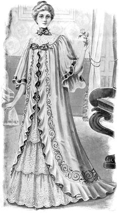 This is a sweet Vintage Black and White Fashion Clip Art - Lovely Lady! I think her face is so pretty and sweet. Victorian Women, Victorian Fashion, Vintage Fashion, Victorian Illustration, Tea Gown, Decoupage, Clipart Black And White, Graphics Fairy, Vintage Black