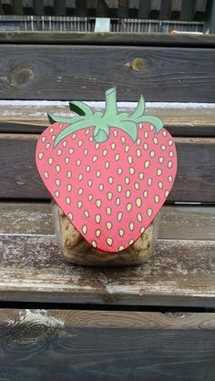 Strawberry Cookie Jar Lid by MTDesignsCrafts on Etsy