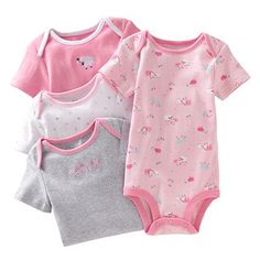 First Moments 4-pk. Lamb Bodysuits - Baby