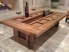 You could throw out your old door ... or you could repurpose it and make this amazing table