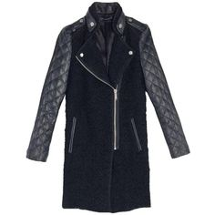 Pre-owned Zara Faux Leather Coat (€980) ❤ liked on Polyvore featuring outerwear, coats, zara coats, vegan coats and faux leather coat