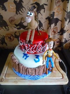 Cake at a Cowboy Party #cowboy #partycake