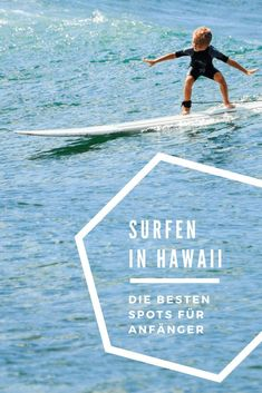 There's no better place to start surfing than Hawaii: Best Surf Spots For Beginners is your guide to surfing on Oahu, Maui and Big Island! Hawaii Surf, Hawaii Travel, Hawaii 2017, Best Surfing Spots, Surfing Tips, Big Island Hawaii, Kauai, Surfing Destinations, Vacation Destinations