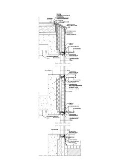 Section detail drawings of a typical GFRC fin and adjacent