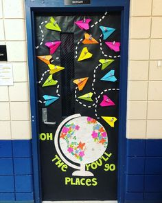 I only decorate my classroom door twice throughout the school year, so I try to make it as original as I can each time. This is one of my… #bulletinboard