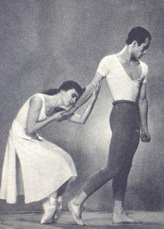 Tatiana Zimina and Nikita Dolgushin in 'The Leningrad Symphony', 1960sNovosibirsk Opera Ballet theatre