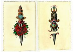 Dagger tattoo flash. #tattoo #tattoos #ink