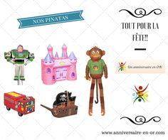 Pensez au jeu de la pinata pour animer votre fête d'anniversaire! Un jeu dont les enfants raffolent et où ils seront tous récompensés!! 😋 www.anniversaire-en-or.com #pinatas #piñata #fête #décoration #enfant #anniversaire #jeu #disney #princesse #marvel