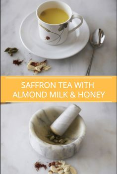 This herbal saffron tea with almond milk and honey may be replacing your turmeric lattes, aka golden milk