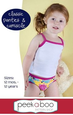 Classic Panties & Camisole from PAB | Top 12 Kids Underwear Patterns